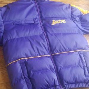 l.a. lakers Reebok puffer jacket
